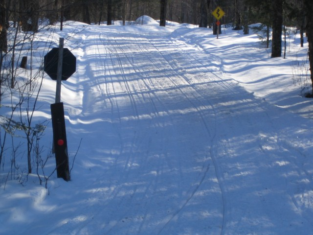 Smooth Snowmobile Trail