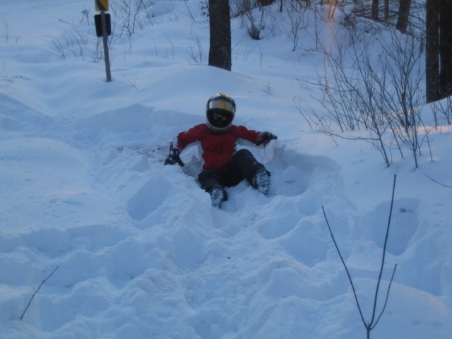 Jills first snow snake!